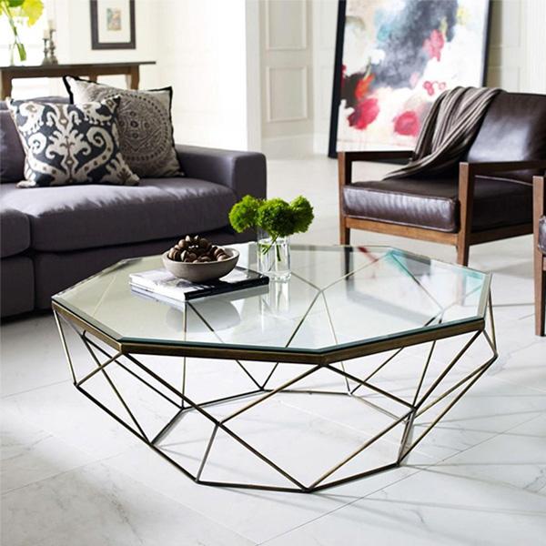 Đây là mẫu bàn tràsofa giá rẻ Hà Nội theo phong cách geometric