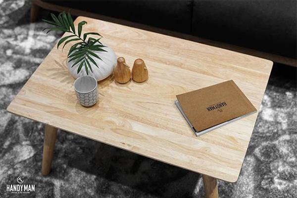 Mẫu bàntrà sofa giá rẻ Hà Nội này được làm từ gỗ cao su thiên nhiên
