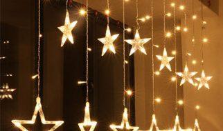 Thiết kế như một chiếc rèm lấp lánh giúp không gian căn phòng thêm rực rỡ và xinh xắn